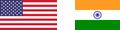 fahne USA Indien