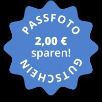 Gutschein vorzeigen - z.B. auf Ihrem Smartphone - Sie sparen 2,00 € bei der Erstellung von 4 Passfotos!
